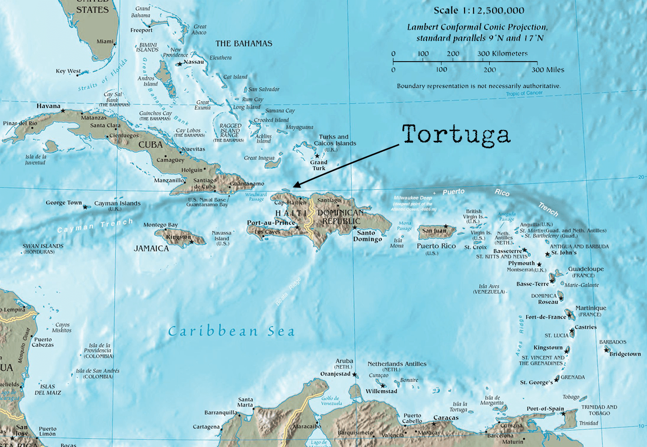 Did pirates really live on the island of Tortuga? © Wikimedia Commons