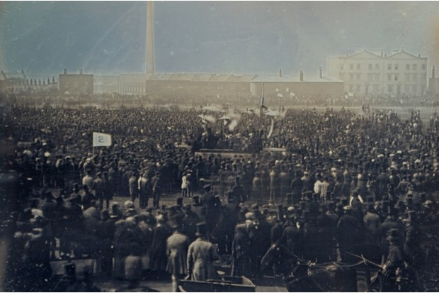 An early photograph of the huge numbers in Kennington Common in 1848 © Royal Collection
