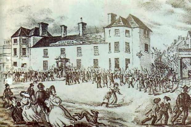 When was the last armed revolt in Britain? (public domain)