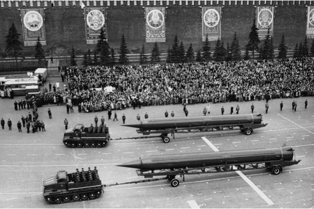 Soviet IRBMs are paraded through Moscow's Red Square in 1961 © Getty Images