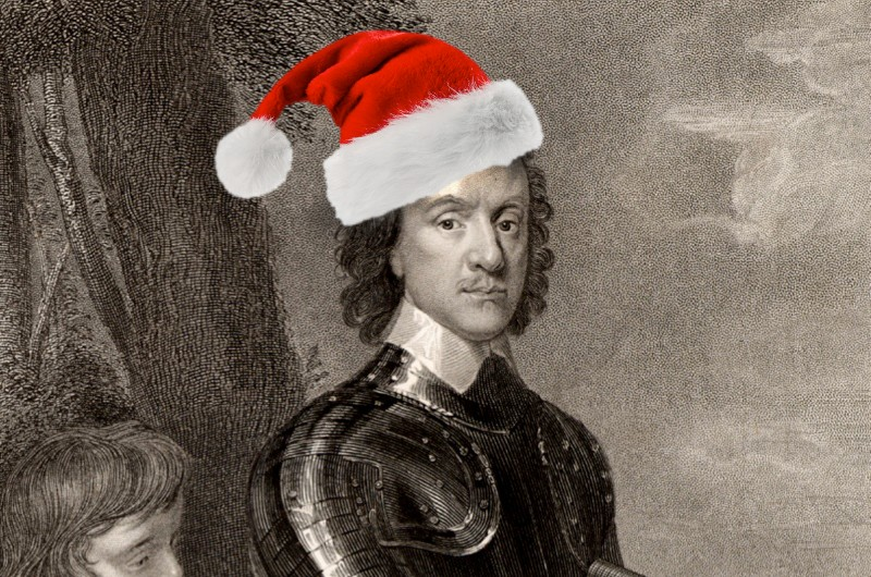 Did Oliver Cromwell really ban Christmas? (public domain)