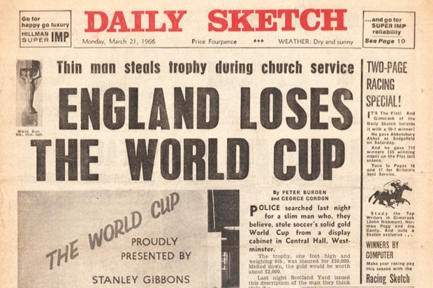 1966: The year England lost the football World Cup © Daily Sketch