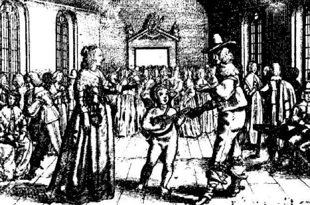 How did people learn to dance in Baroque and Regency times? (public domain)