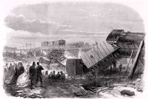 Engraving of the Staplehurst rail disaster in the Illustrated London News, 18 July 1865 © Getty Images