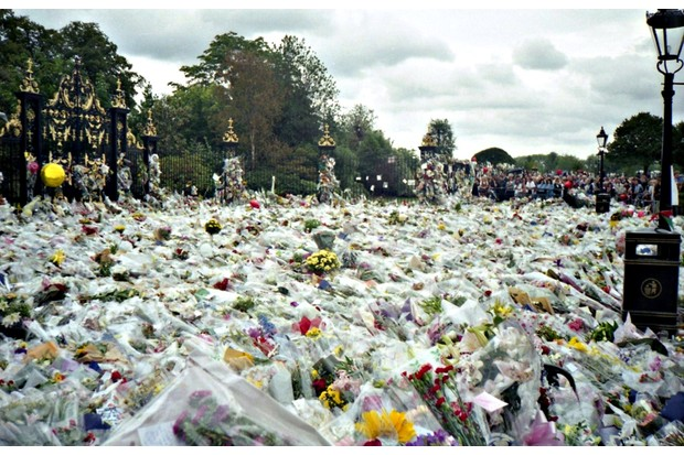 It's estimated that over a million bouquets of flowers were left outside Buckingham Palace