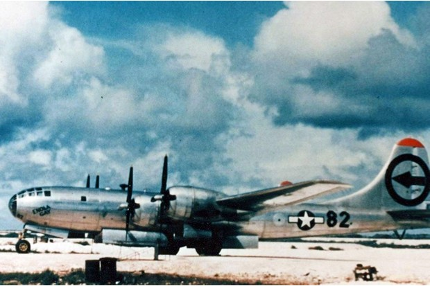 The Enola Gay B-29 Superfortress bomber, 6 August 1945 © Getty Images