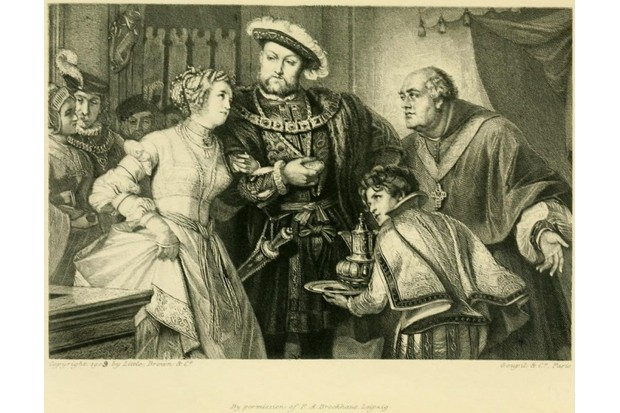 Henry and Anne in a Victorian engraving (Public Domain)
