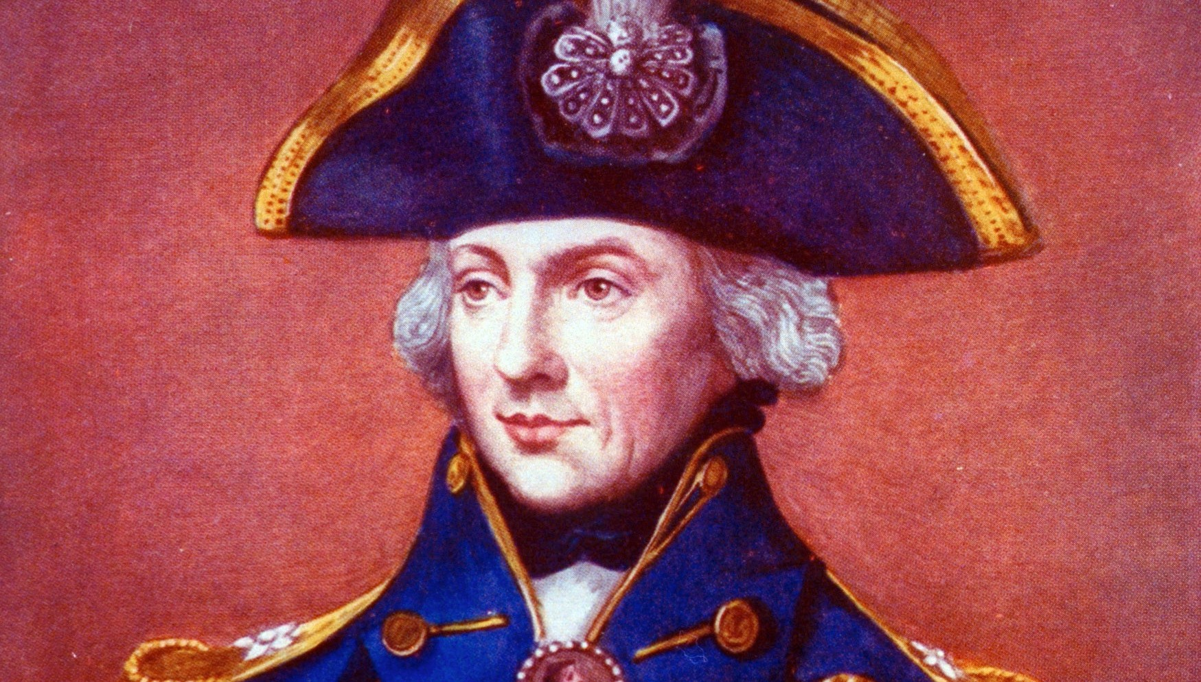 Portrait of English admiral Lord Horatio Nelson