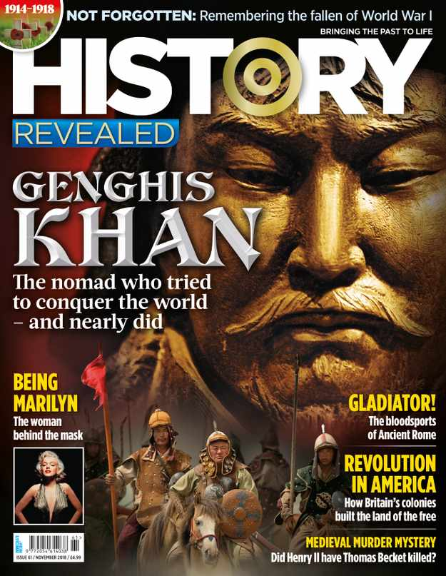History Revealed issue 61, November 2018, on sale 4th October