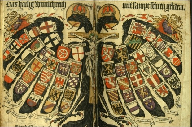 The states of the Holy Roman Empire on a woodcut, c1510 (public domain)