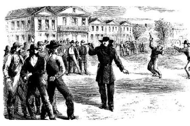 Hickok Tutt Duel 1865 © Harpers Monthly Magazine