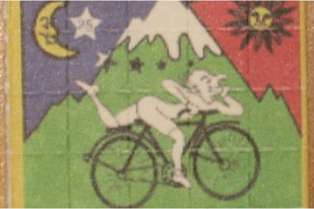 Albert Hofmann's 'Bicycle Day' has inspired much LSD-fuelled art. (Used with permission from YttriumOx)