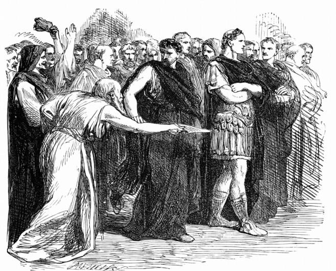 Soothsayer warning Julius Caesar