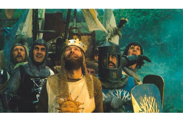 A shot from Monty Python and the Holy Grail. © Kobal