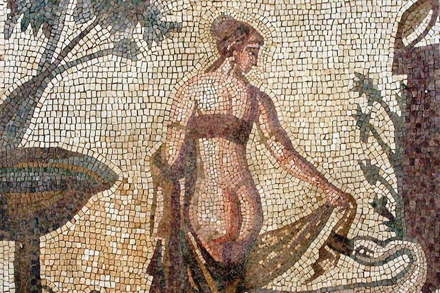 3rd century mosaic depicting Leda and the swan