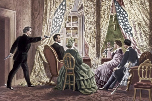 What play was Abraham Lincoln watching when he was shot? (public domain)