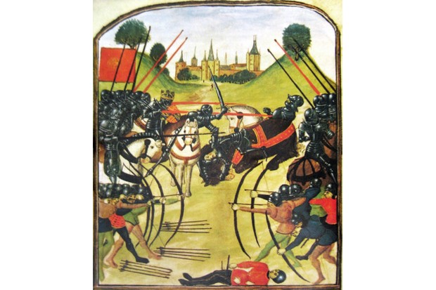 A medieval depiction of the Battle of Tewkesbury © Wikimedia Commons