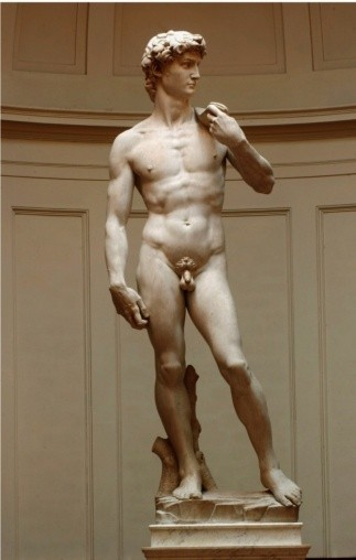 Michelangelo's masterpiece, 'David'. (Getty Images)
