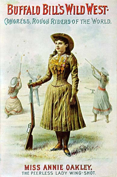 Annie Oakley on a poster for the Wild West show © Wikimedia Commons