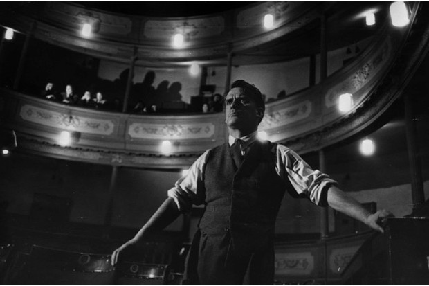 Director Denis Carey on the stage of the Bristol Old Vic, or Theatre Royal as it was known in 1952 © Getty Images