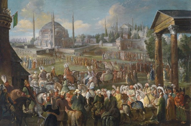 The Sultan's Procession in Istanbul, C. 1736 (public domain)