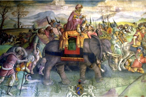 Hannibal leads his Cathaginian army during the Second Punic War © Getty Images