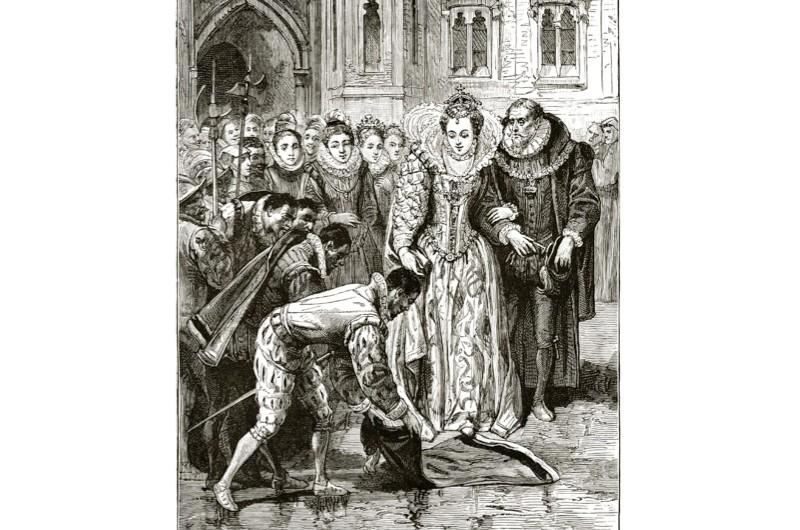 Did Ralegh really lay down his cloak for Elizabeth I? © Wikimedia Commons