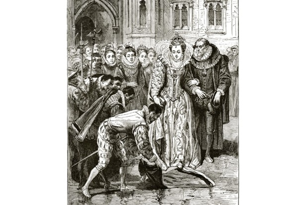 Did Ralegh really lay down his cloak for Elizabeth I? © Wikimedia Commons