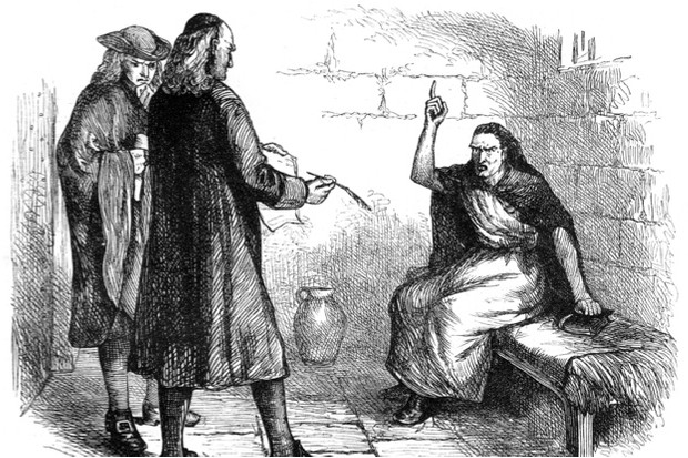 Martha Corey, seen in a print from c1880, was imprisoned, tried and executed during the Salem Witch Trials. Her husband was also put to death © Getty Images