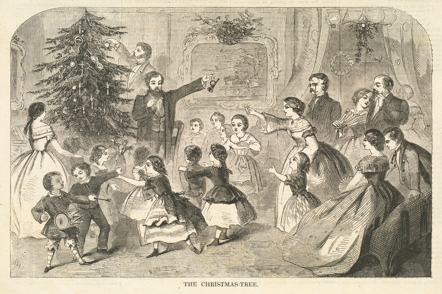 The history of Christmas traditions © Boston Public Library