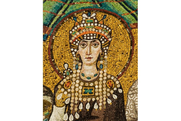 Mosaic of Theodora in the Basilica San Vitale, Italy