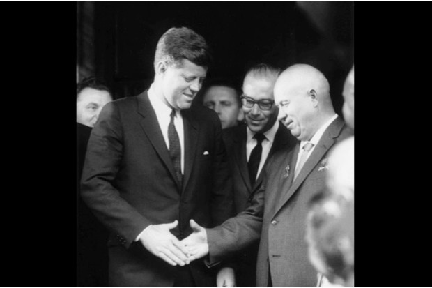At the height of the Cold War, US President John F Kennedy meets Soviet Premier Nikita Khrushchev at the 1961 Vienna summit © Getty Images