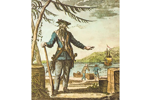 According to eye-witness accounts, Blackbeard wore a sash of pistols – almost certainly flintlocks – during combat. Flintlocks were effective, but hard-to-load weapons. © Wikimedia Commons