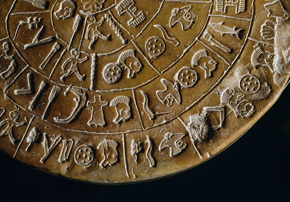 The Phaistos Disc from the palace of Phaistos, Crete © Getty Images