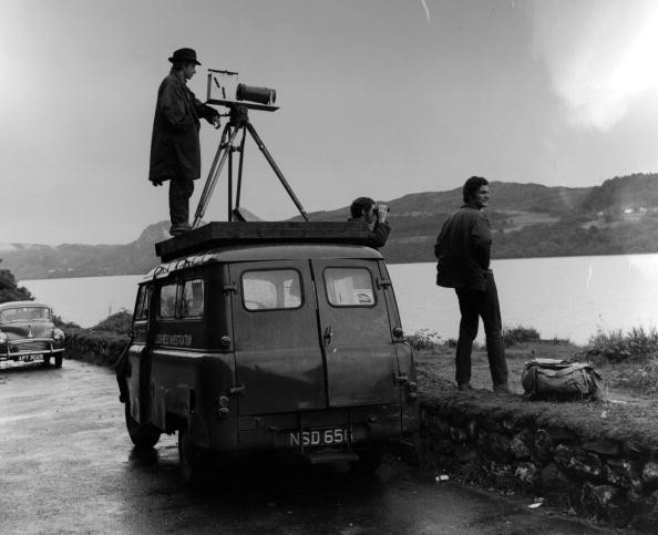 1st August 1968: Members of the Loch Ness Monster Investigation Team scan the loch for a sighting of the monster © Getty Images