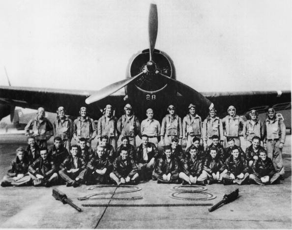 "Portrait of legendary Lost Squadron & plane ""Flight 19"" that supposedly vanished into Bermuda Triangle shortly after WWII © Getty Images"