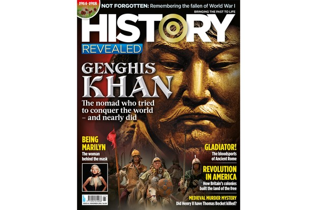 History Revealed November 2018 is on sale 4 October. Inside: Genghis Khan, Thomas Becket, Roman Gladiators, American Revolution and more