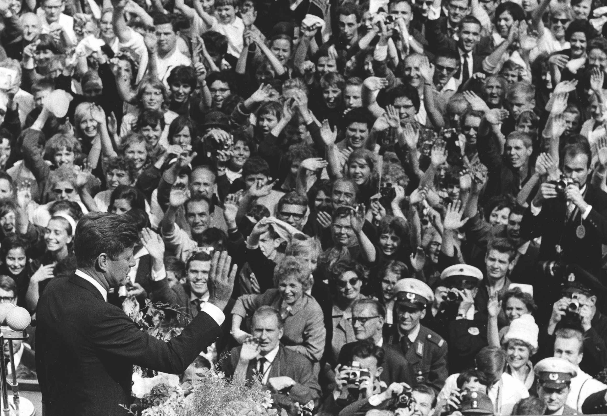 JFK address 120,000 West Germans in Berlin in June 1963 © Getty Images