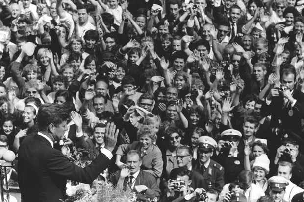 JFK address 120,000 West Germans in Berlin in June 1963 © Getty Images