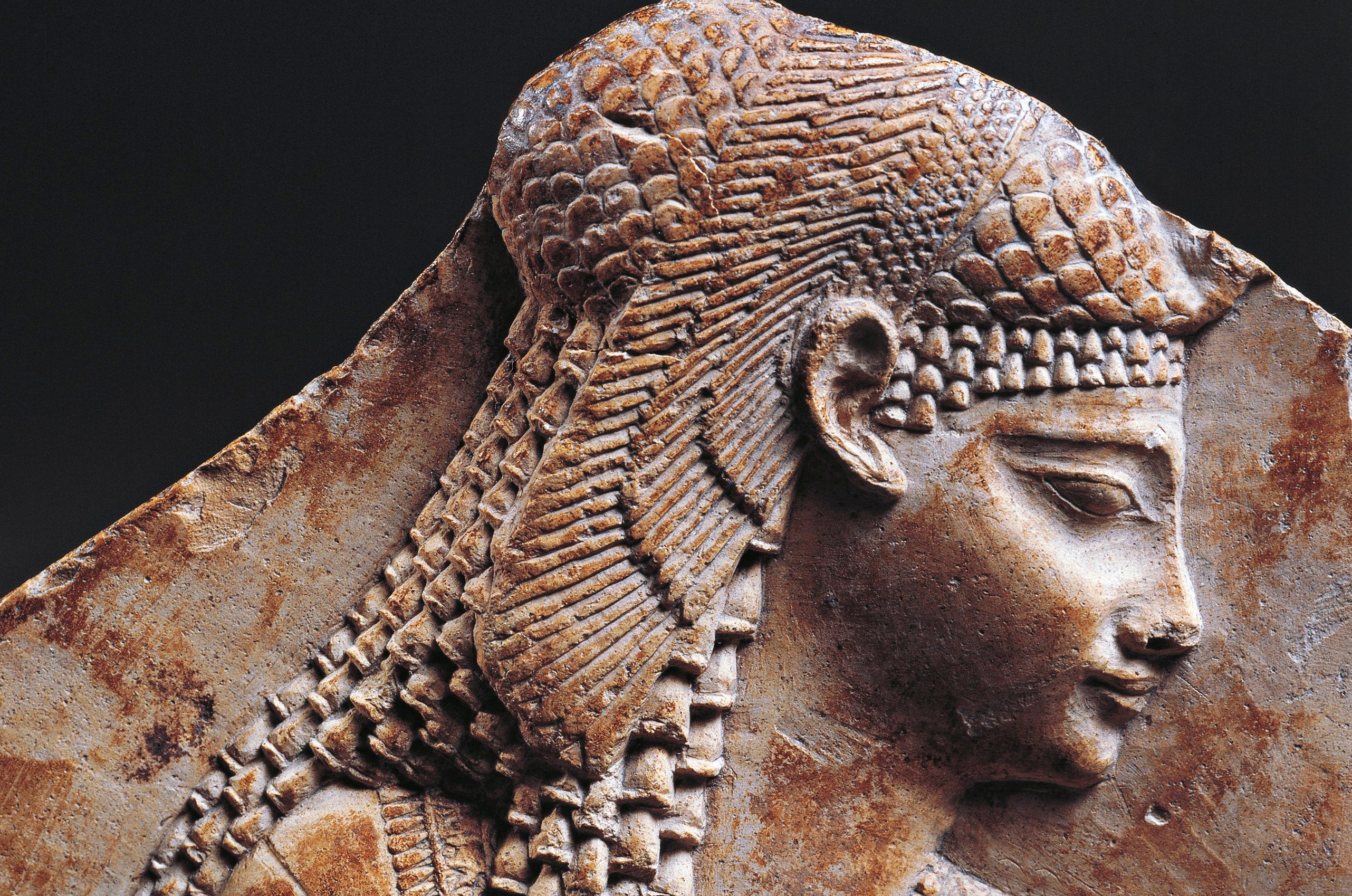 Bas relief fragment portraying Cleopatra. © Getty