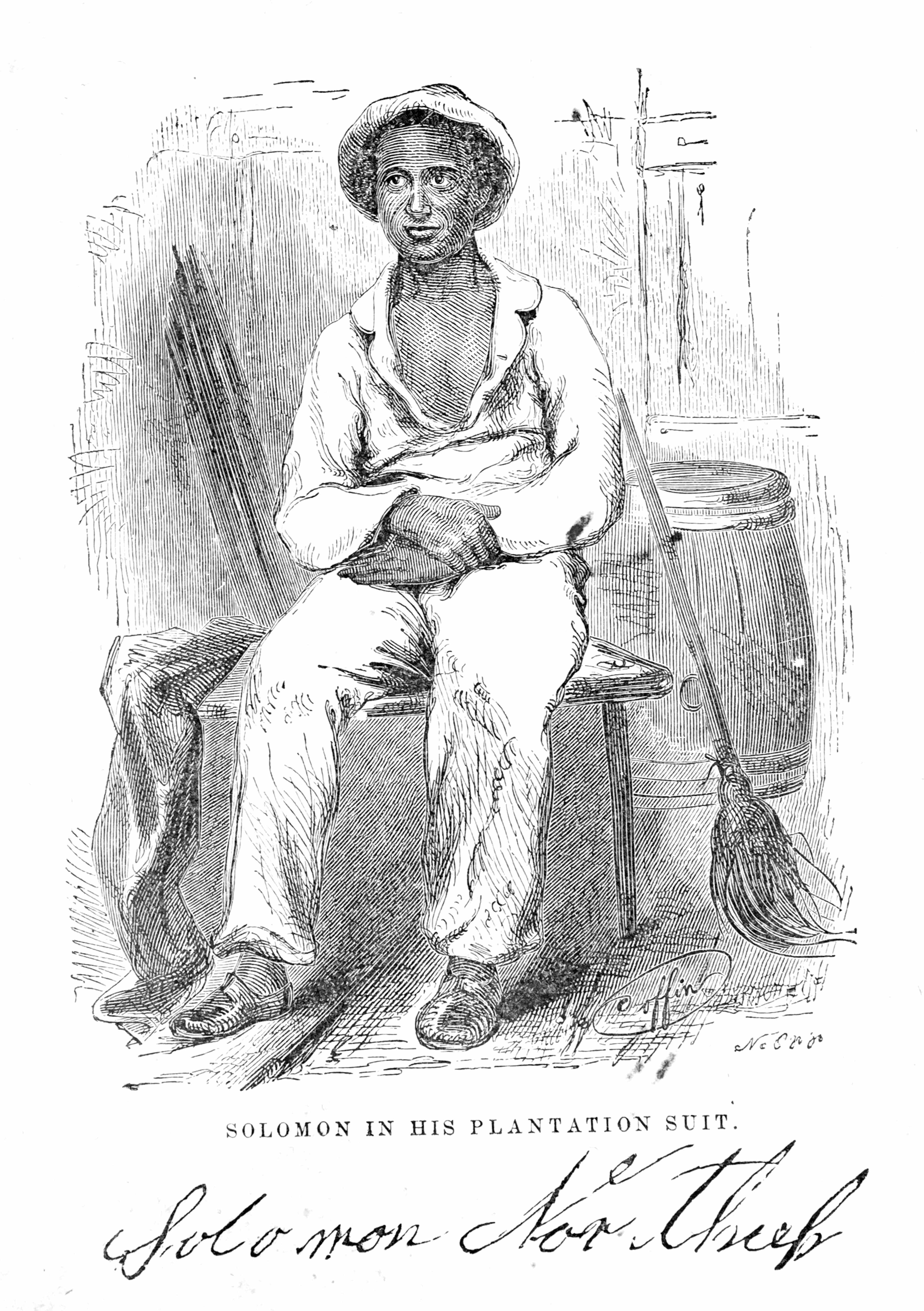 Illustration entitled 'Solomon Northup In His Plantation Suit', from the book Twelve Years A Slave © Getty Images