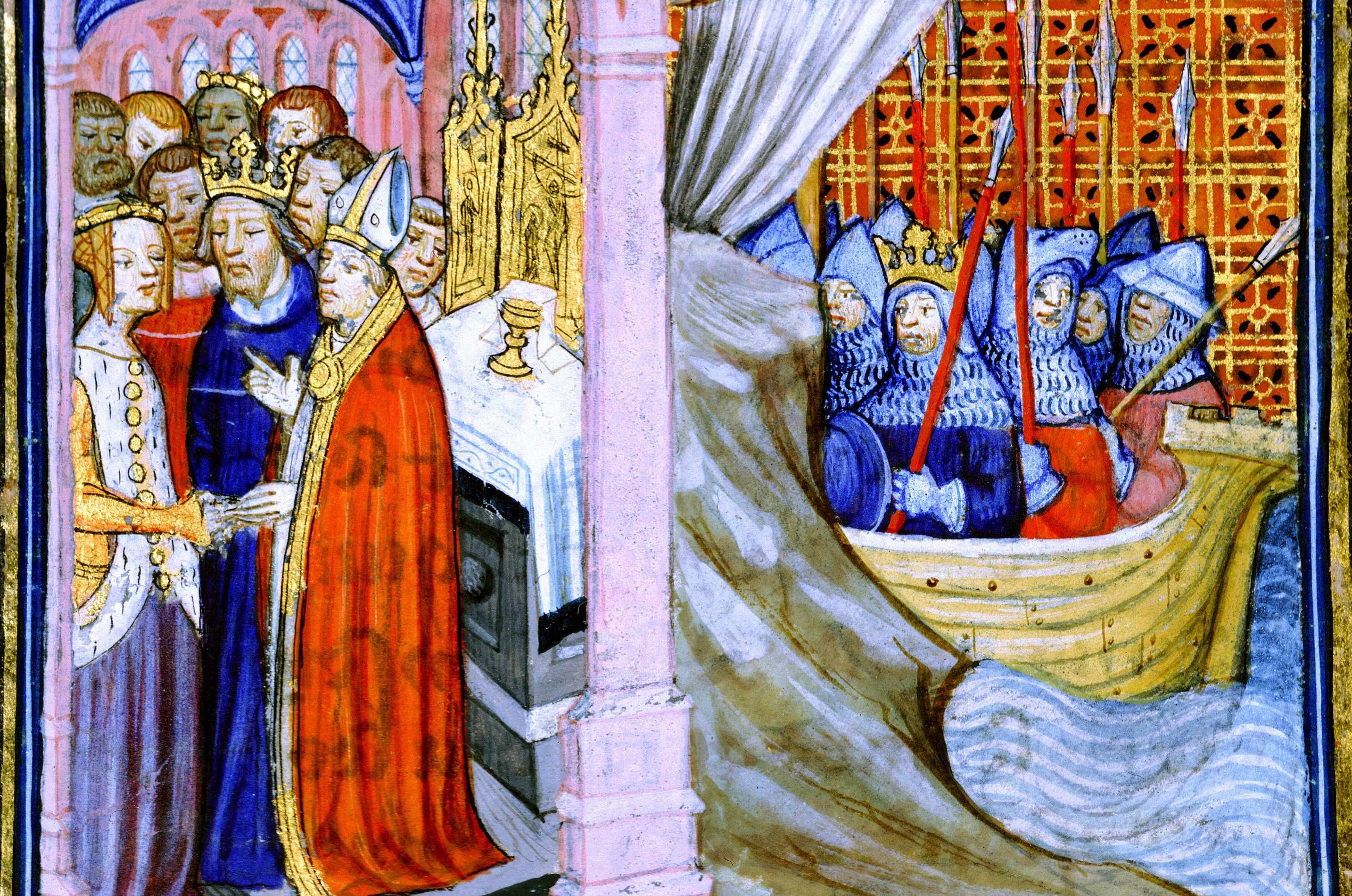 Marriage of Eleanor of Aquitaine and Louis VII of France. © Getty