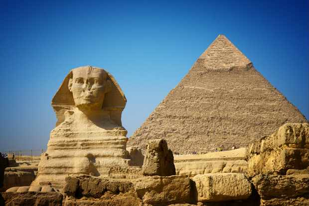 Great Sphinx and Pyramid of Khafre. © Getty