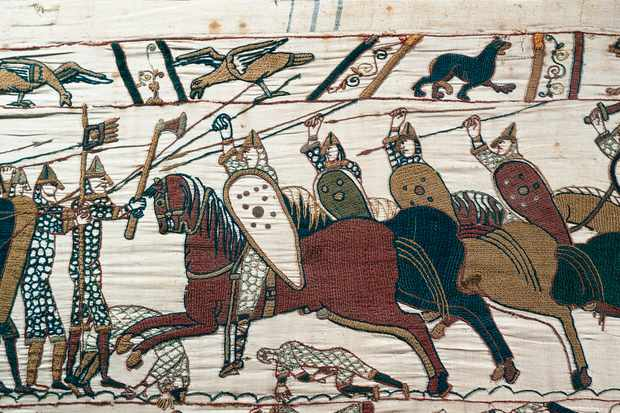 Norman conquest of England in 1066 depicted in the Bayeux Tapestry © Getty