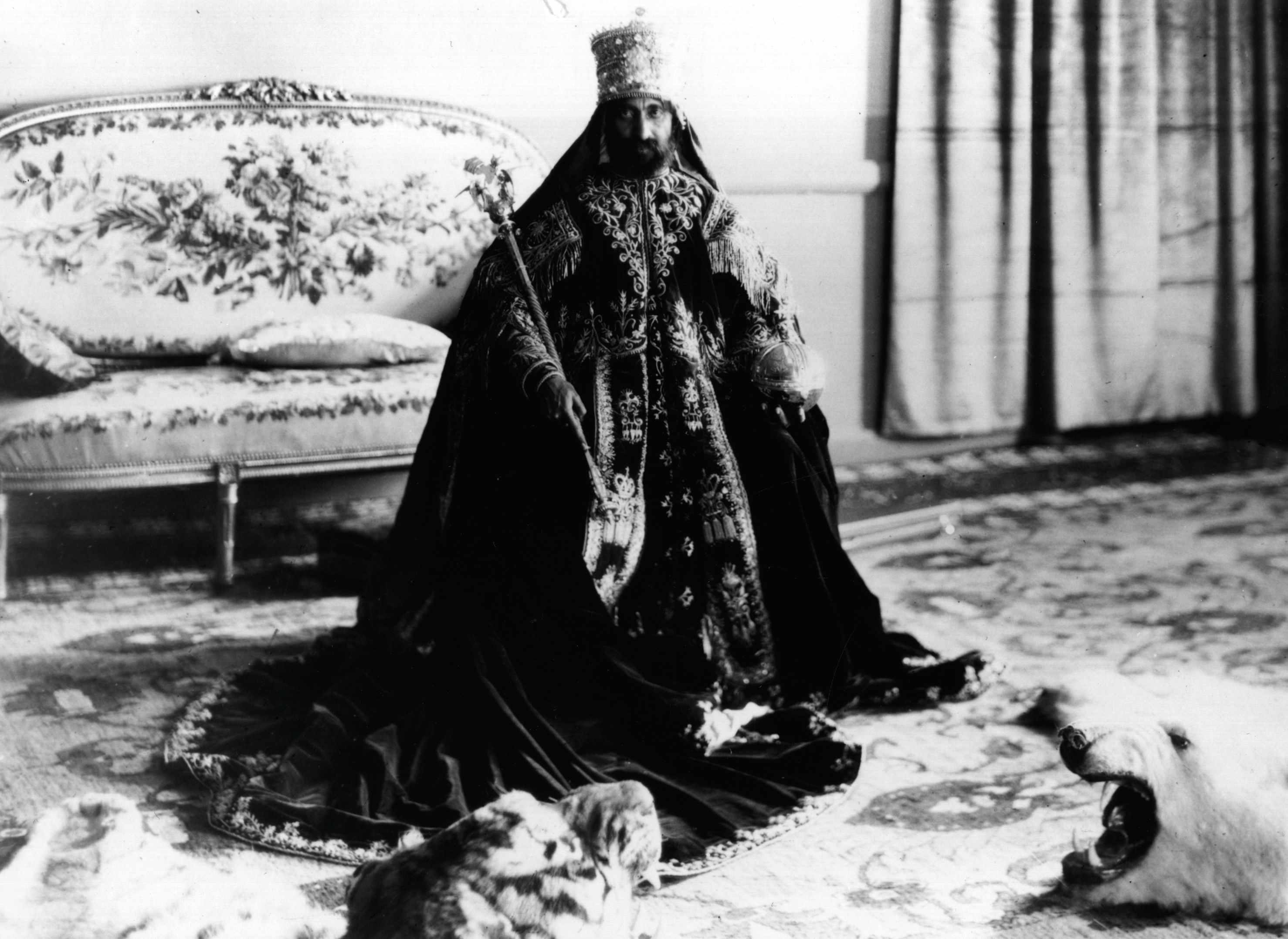 Haile Selassie in full ceremonial regalia following his coronation © Getty Images