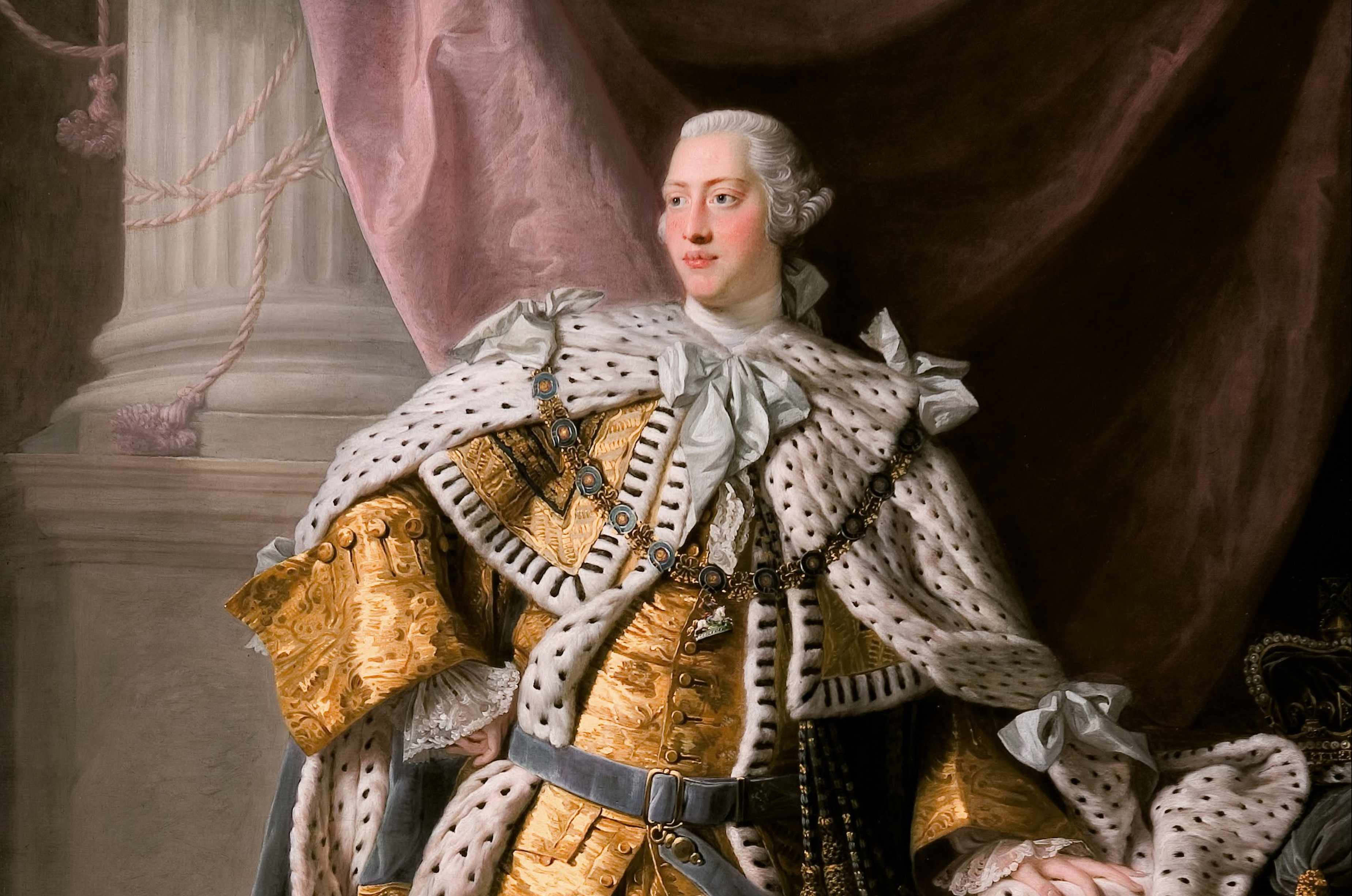 Portrait of the King George III in his Coronation Robes. © Getty