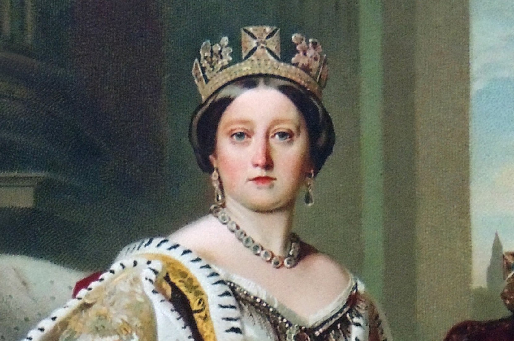 Portrait of Queen Victoria in her coronation robes and wearing the State Diadem. © Getty