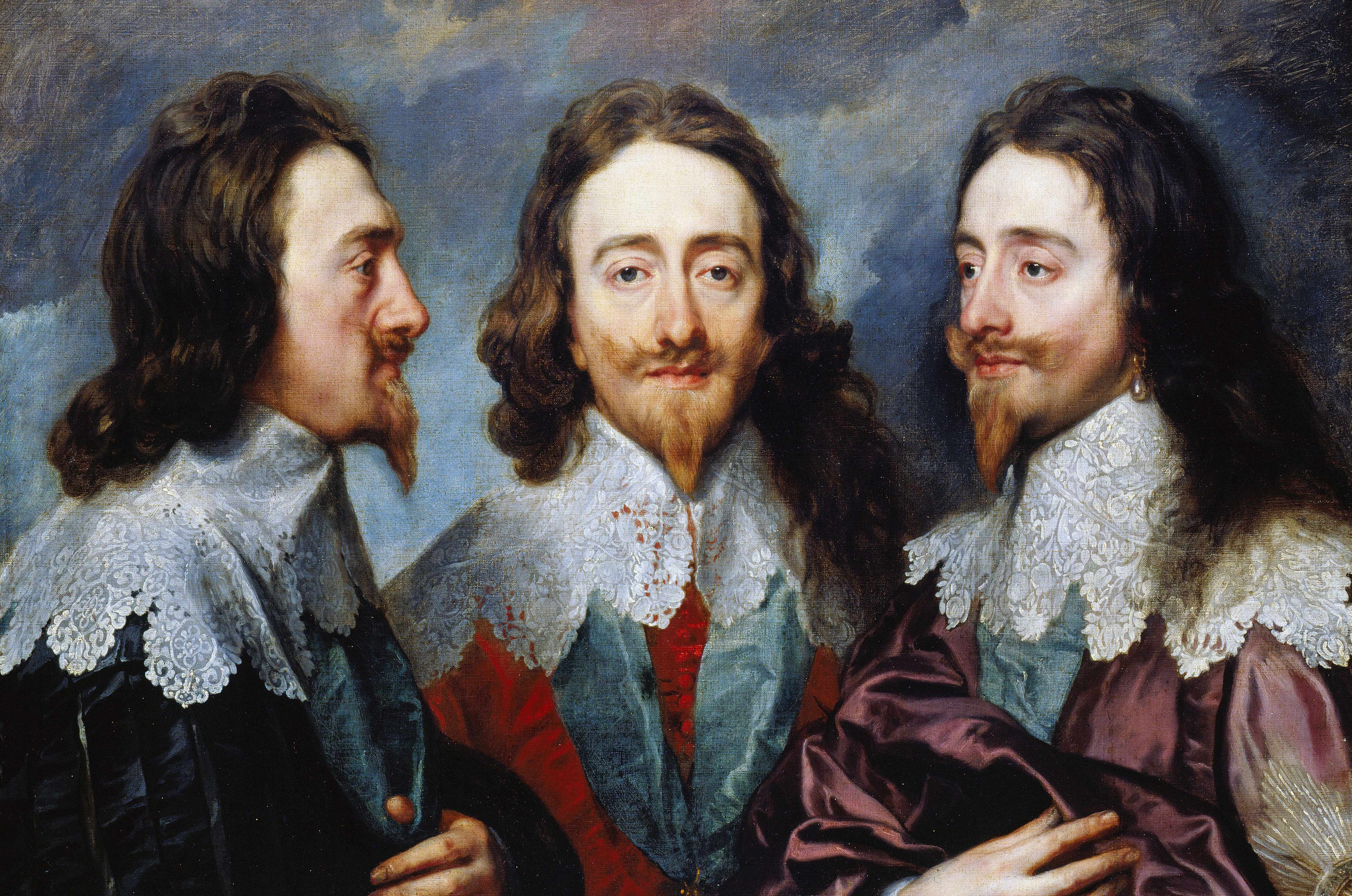 Triptych portrait of King Charles I of England by Sir Anthony Van Dyck. © Getty