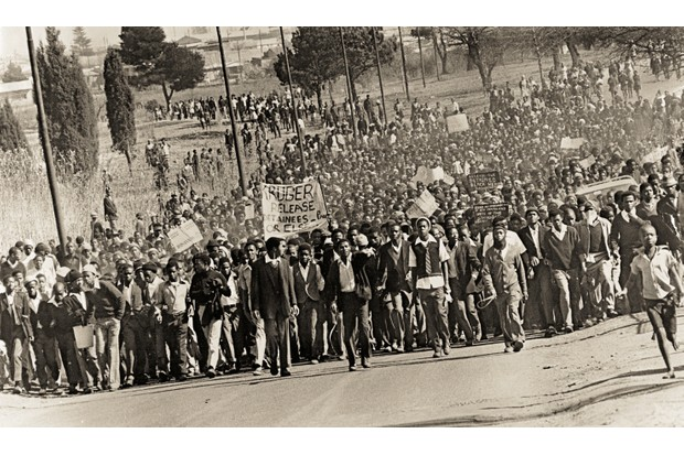 Protests erupted in Cape Town in September 1976 © Getty Images
