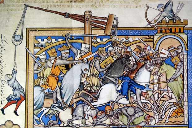 13th Century battle scene. © Getty